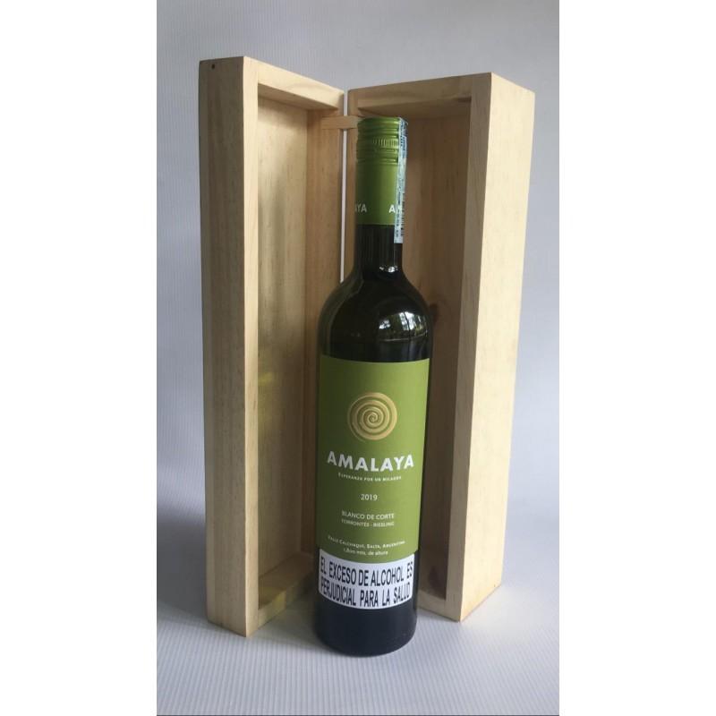 Caja de Madera Ecológica para Vinos 750ML (No incluye el vino)